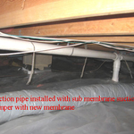 Crawl Space Suction and Sheeting